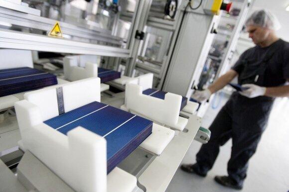 Fotoelektrinių modulių gamyba