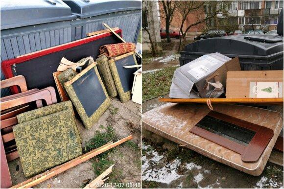 Nelegalus atliekų palikimas prie konteinerių