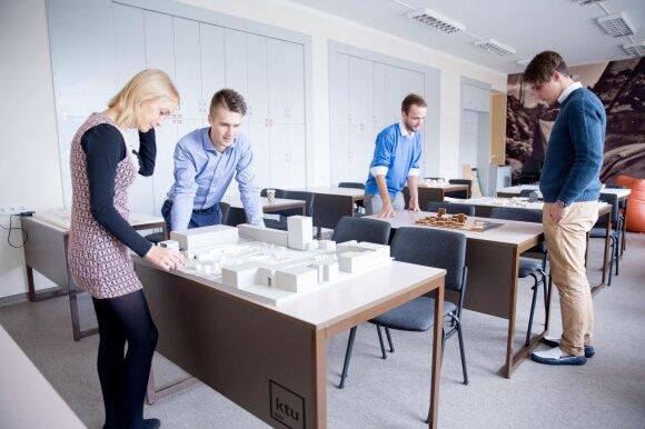 KTU Statybos ir architektūros studentai
