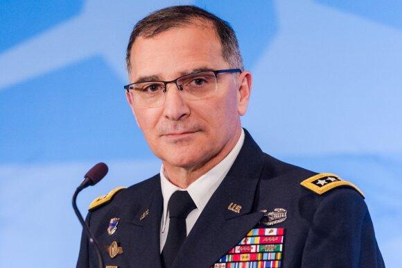 NATO pajėgų vadas, generolas Curtisas Scaparrotti