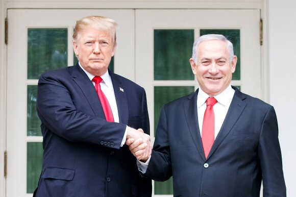 Donaldas Trumpas, Benjaminas Netanyahu