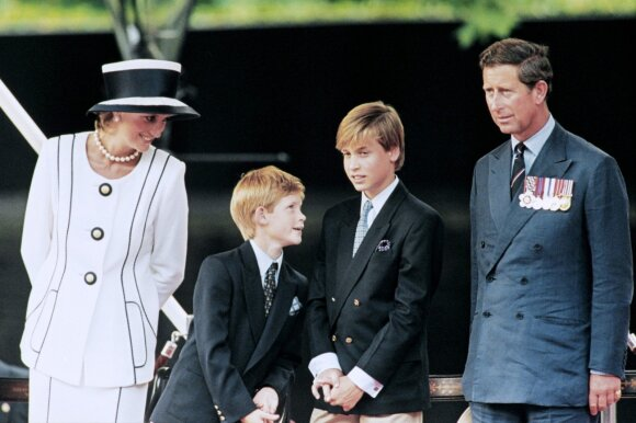 Velso princesė Diana su šeima