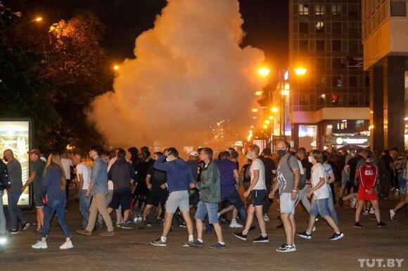Baltarusiai protestuoja prieš rinkimų rezultatus