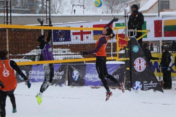 Europos sniego tinklinio ture Gruzijoje - Birutės Aleknavičiūtės, Svetlanos Bekiš-Šturo ir Vlados Oganauskienės medaliai