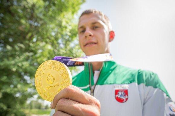 Europos žaidynėse Baku – H. Žustauto aukso medalis