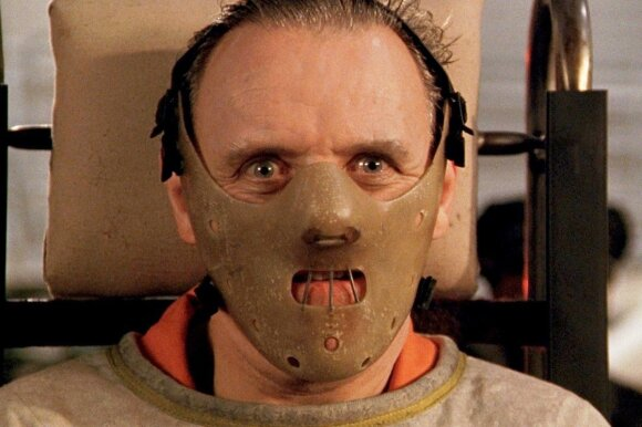 Antony Hopkins as Hannibal Lecter in The Silence of the Lambs