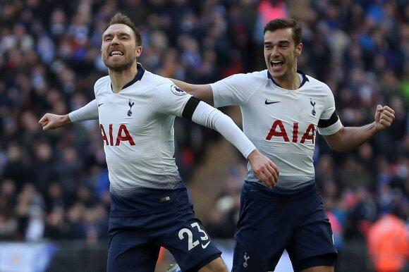 """Christianas Eriksenas (k) ir Harry Winksas, """"Tottenham Hotspur"""""""