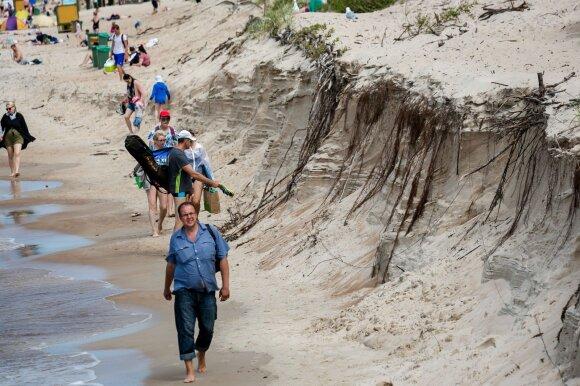 Ruoškimės blogam arba labai blogam scenarijui: kilus audrai dalis Klaipėdos, Palangos ir Kuršių nerija gali atsidurti po vandeniu