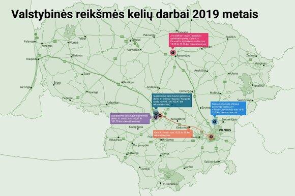 Карта ремонта дорог в Литве на 2019 год: какие участки лучше объезжать