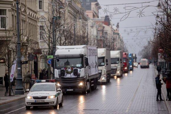 Vilkikų protestas Vilniuje: įdomu, ar pasamdyti ukrainiečiai suvokia, kur dalyvauja