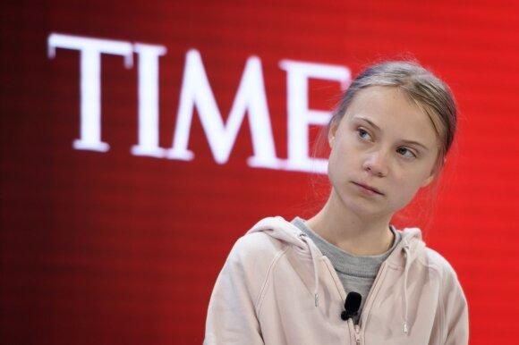 Greta Thunberg Davoso ekonomikos forume