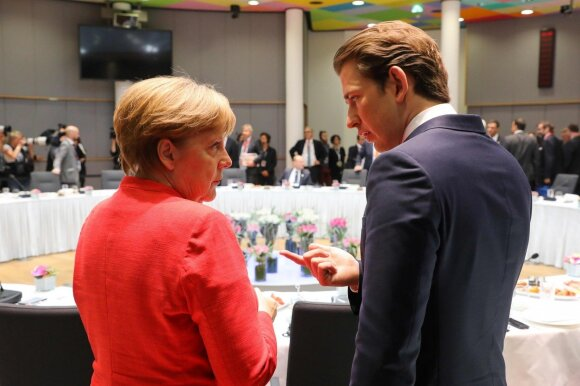 Angela Merkel, Sebastianas Kurtzas