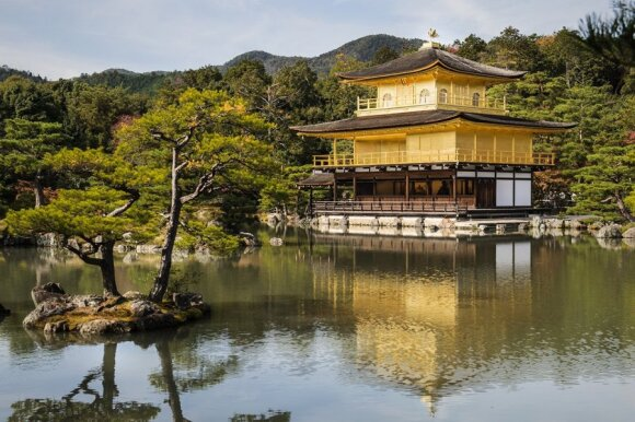 Kyoto's Kinkaku-ji or Golden Temple, one of the famous tourist destinations   Photo Ludo Segers