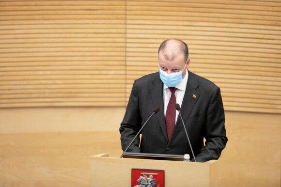 Skvernelio kalba dėl greitųjų testų buvo tikrai audringa: jo pasirodymą Seime lydėjo riksmai iš salės