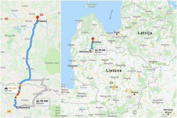 Latvijos miestas Saldus (Google maps)