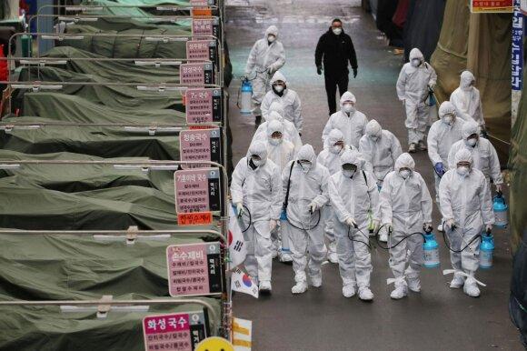 Karantinas Pietų Korėjoje dėl koronaviruso