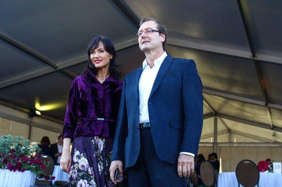 Viktoras Uspaskichas su žmona Jolanta