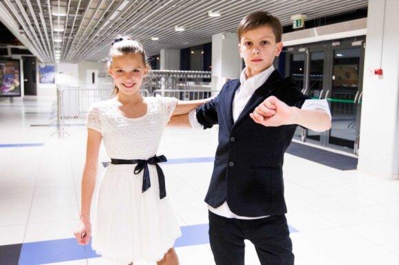 Jaunieji šokėjai Laura ir Vilius