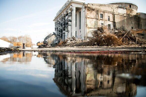 Под снесенным Дворцом профсоюзов обнаружено бомбоубежище