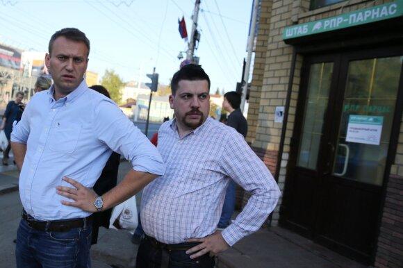 Алексей Навальный и Леонид Волков