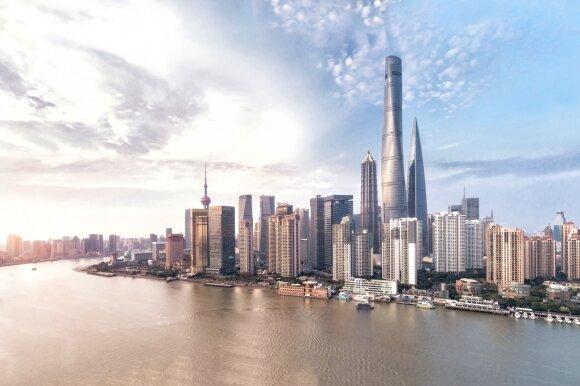 Dangoraižiai Šanchajuje