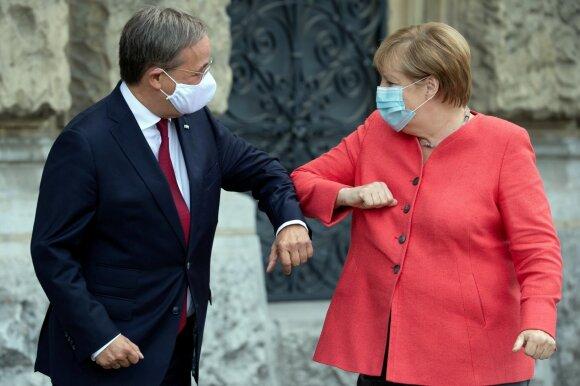 Arminas Laschetas, Angela Merkel