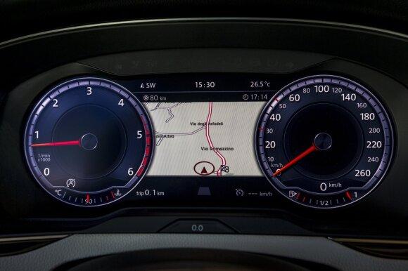 Ar važiuoja leistinu greičiu, vairuotojai sprendžia pagal spidometrą, bet pasitikėti juo negalima