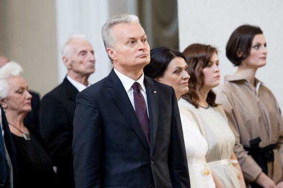Gitanas Nausėda su šeima