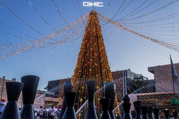 Kalėdų eglutė Bogotos prekybos centre 2018m.