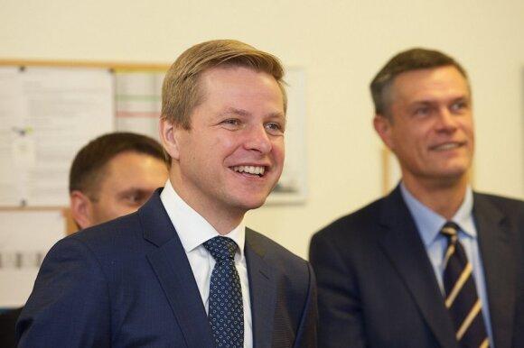 Remigijus Šimašius ir Linas Kvedaravičius