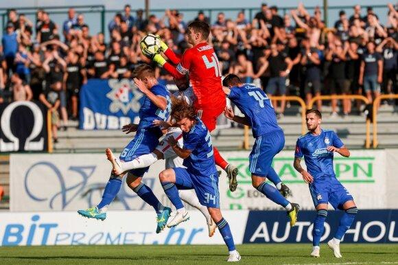 """Kroatijos pirmenybių rungtynės HNK """"Gorica"""" - Zagrebo """"Dinamo"""""""