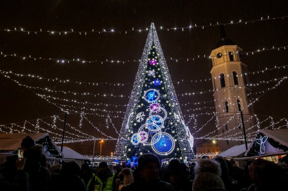 Kalėdų eglutės įžiebimas Vilniuje 2018 m.