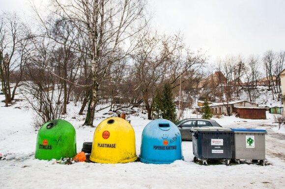 Atliekų rūšiavimo konteineriai