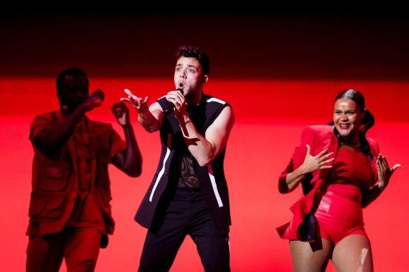 Eurovizijos finalas. Šveicarija: Luca Hänni – She Got Me