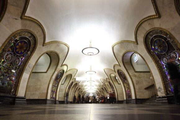Maskvos metropolitenas: šventyklas primenančios stotys