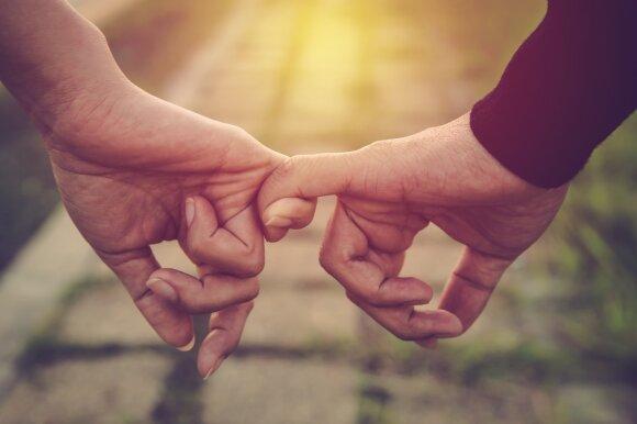 Įsimylėjusių žmonių pora.