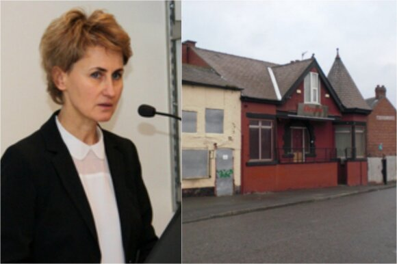 Prokurorė Nida Grunskienė parodė nuotrauką viešnamio, kuriame lietuvaitės buvo verčiamos dirbti prostitutėmis