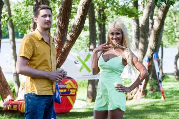 Diana Martinėlė su draugu Simonu