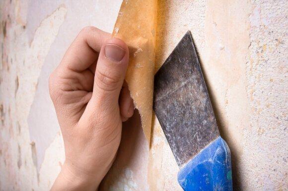 Senus tapetus galima atnaujinti greitai ir nebrangiai: pasiūlė neįprastą būdą