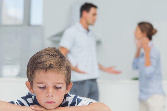 Tėvai pykstasi