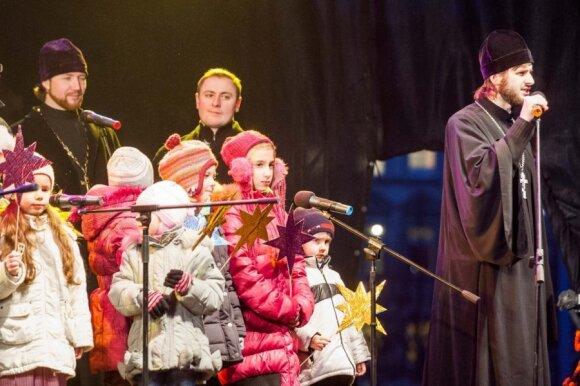 В центре Вильнюса отметили православное Рождество