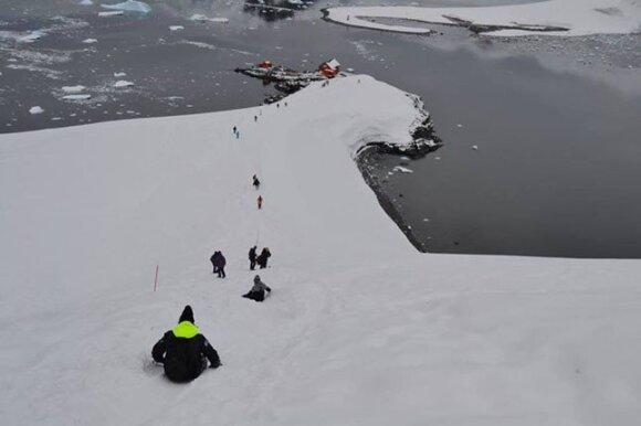 Kelionės į Antarktidą ir Arktį / L. Choroščo asmeninio albumo nuotr.
