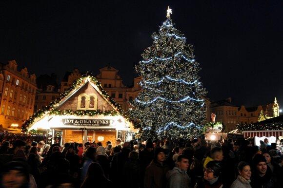 Kalėdų eglė Prahoje