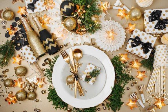 Kalėdinio stalo dekoras - paprastai ir greitai