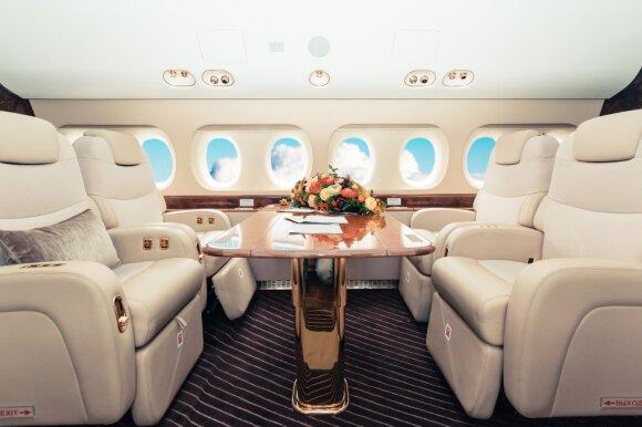 Prabangiausių lėktuvų interjerai visame pasaulyje