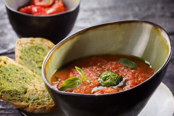 Pomidorų sriuba pagal tėtį