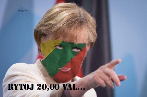 Memai. Angela Merkel (aut. P. Baškys)