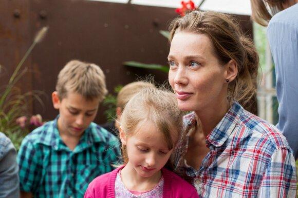 Eglė Grėbliauskaitė-Tursienė su vaikais