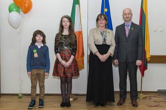 Irish Ambassador  David Noonan and Mrs. Cliodhna Noonan and family