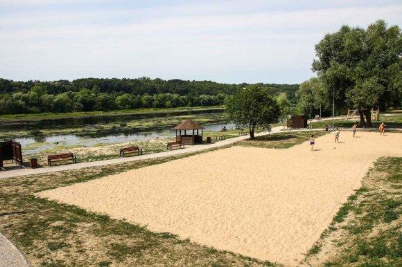 Panemunės paplūdimys (R. Tenio nuotr.)